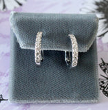 Sparkling ~ Diamond Hoop Earrings
