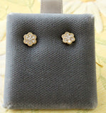Lovable ~ Flower Shaped Diamond Earrings