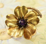 Decorative ANTIQUE Amethyst Pin