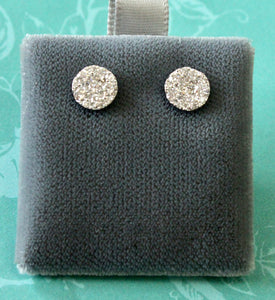Lovable ~ Cluster Diamond Stud Earrings