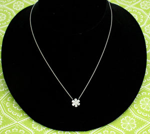 Flirty & Fabulous  ~ Diamond Necklace in a floral moti
