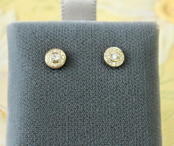 Dainty ~ Diamond Stud earrings