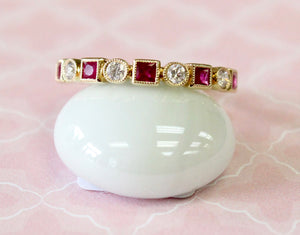 Pretty & Precious ~ Diamond and Ruby band