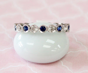 Pretty & Precious ~ Sapphire and Diamond Eternity Band