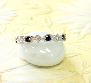 Sweet ~ Sapphire and Diamond Ring, band