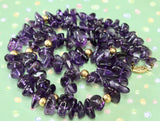 Attractive ~ Amethyst, tumbled, Necklace