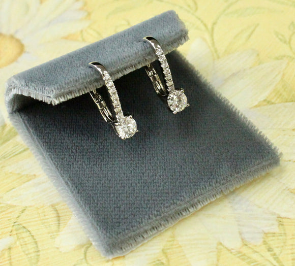 Dazzling ~ Lever back Diamond Earrings
