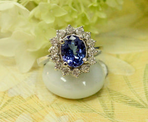 Tanzanite and Diamond Ring - Sparkling