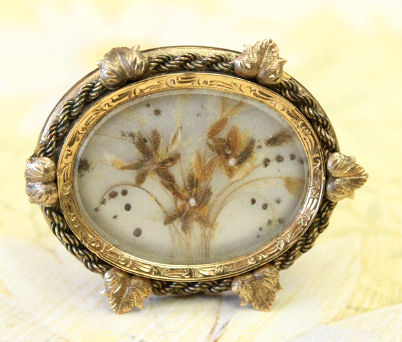 Lovely ~ Victorian Pressed Floral Pin
