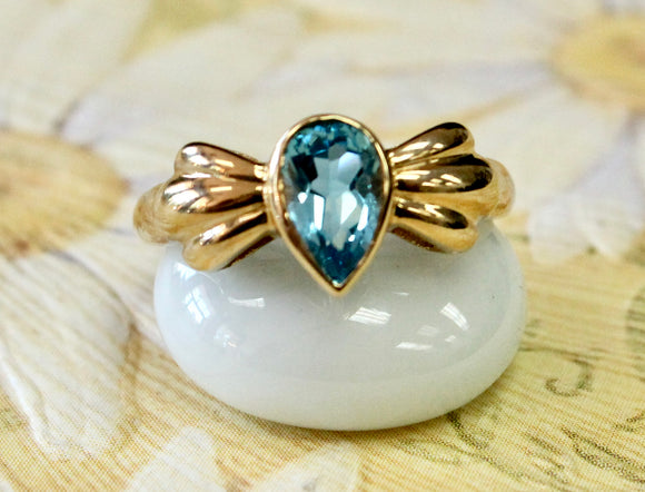 Sweet & Cheerful ~ Blue Topaz Ring