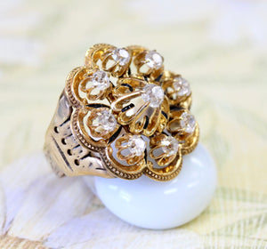 Diamond Cluster Ring ~ Eye Catching