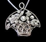 INTRICATE & Fascinating ~ Platinum Diamond Pendant with chain