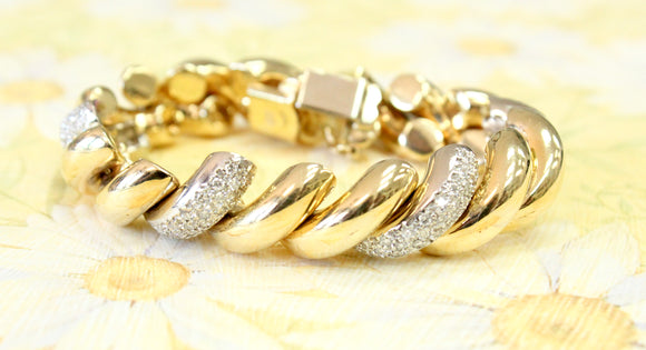 Beautiful ~ Two Tone San Marco Style Bracelet