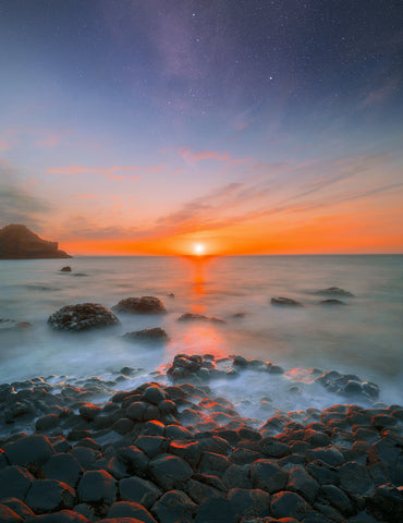 "Giant's Causeway Sunset '55°14'37.1""N 6°30'22.7""W' - ConorEdgell"
