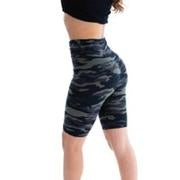 High Waist Camo Bike Short - Olive