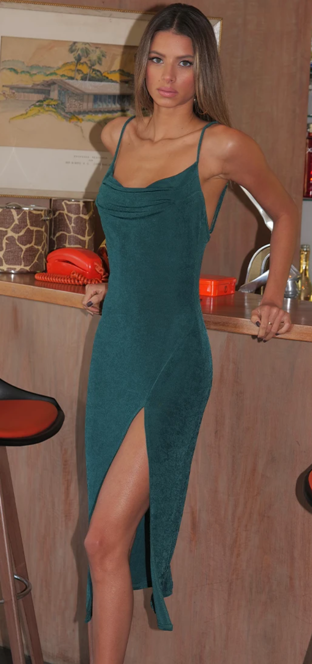 Serena Slip Dress - Emerald