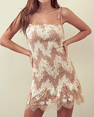 Cece Mini Dress - Beige