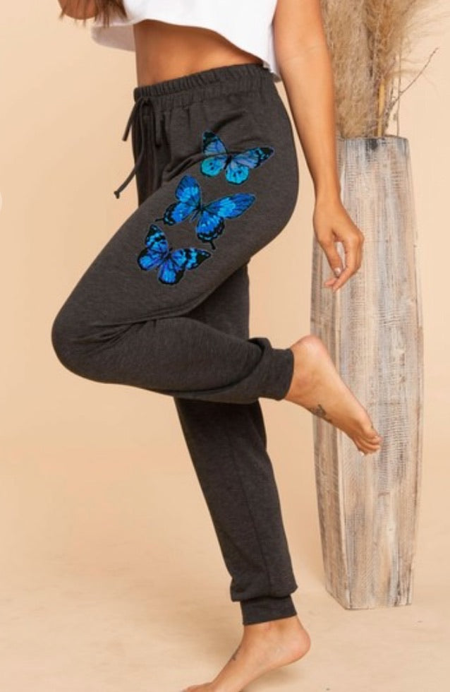 Butterfly Joggers - Charcoal