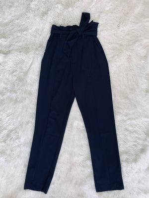 High Rise Pants - Navy