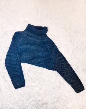 Turtle Neck Sweater - Charcoal