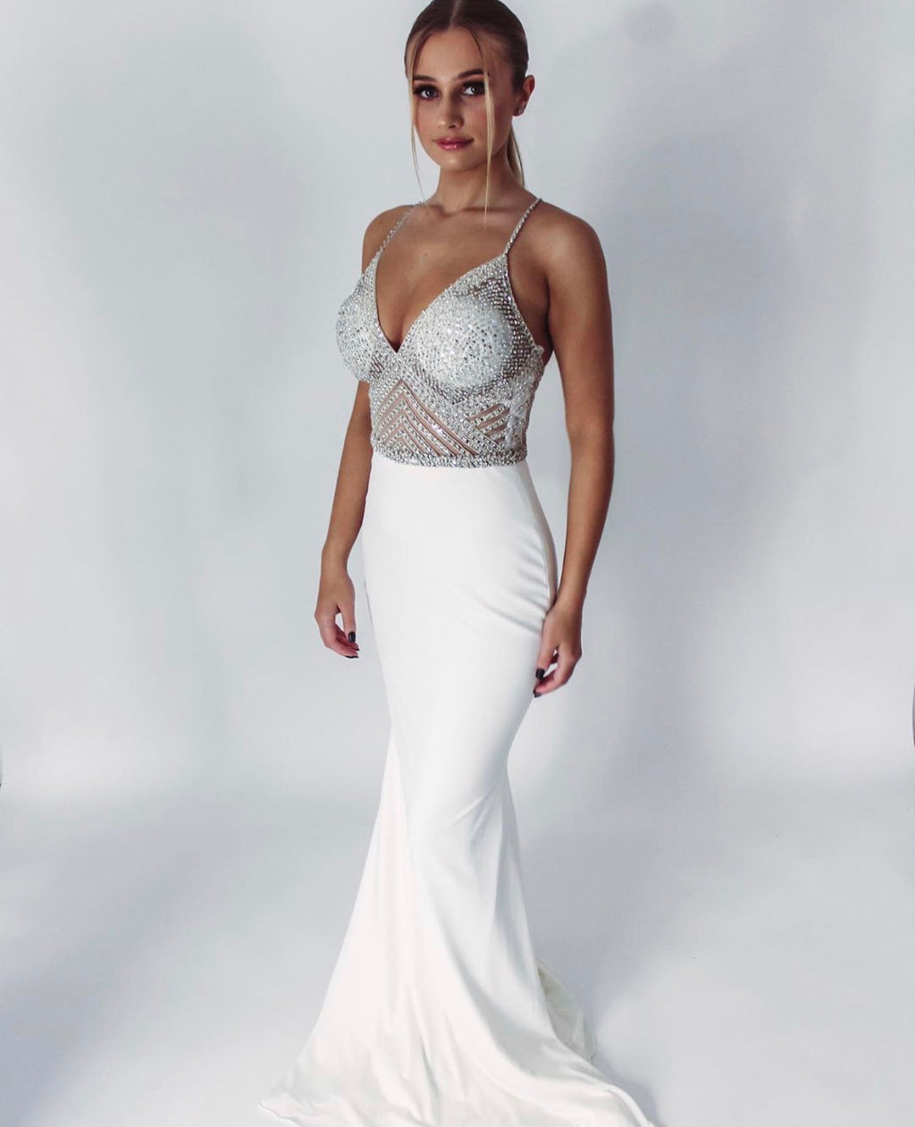 Jovani Sample Gown - Off White