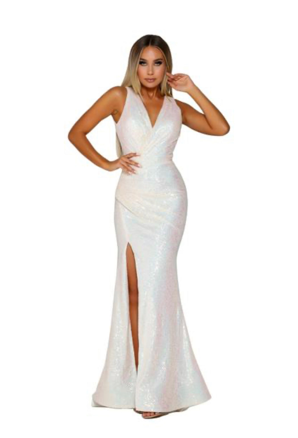 Portia Sample Gown - Pearl