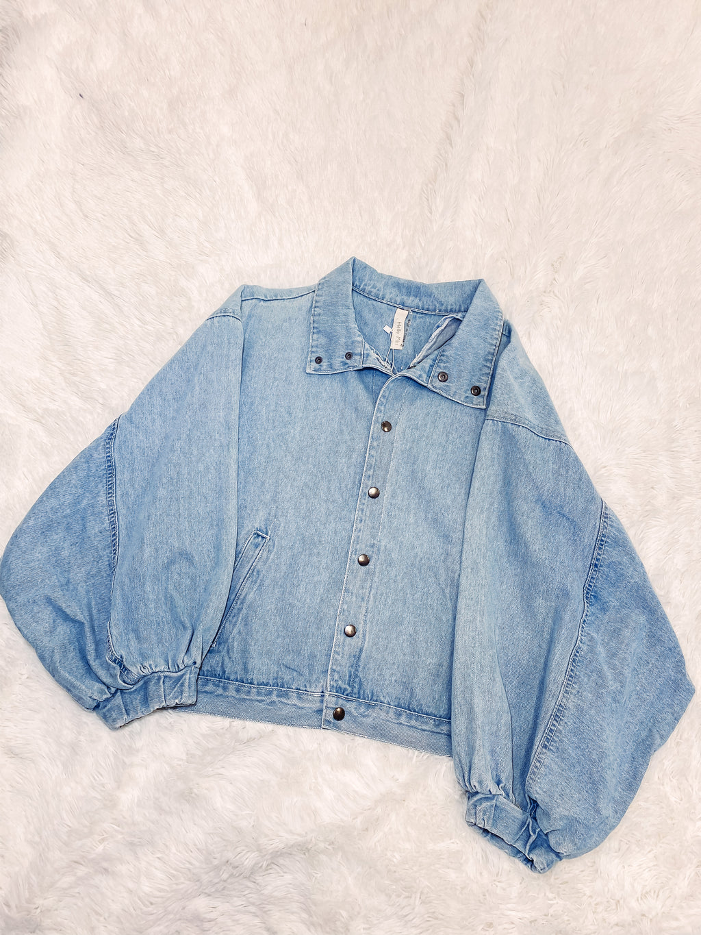 Oversized Jean Jacket - Blue