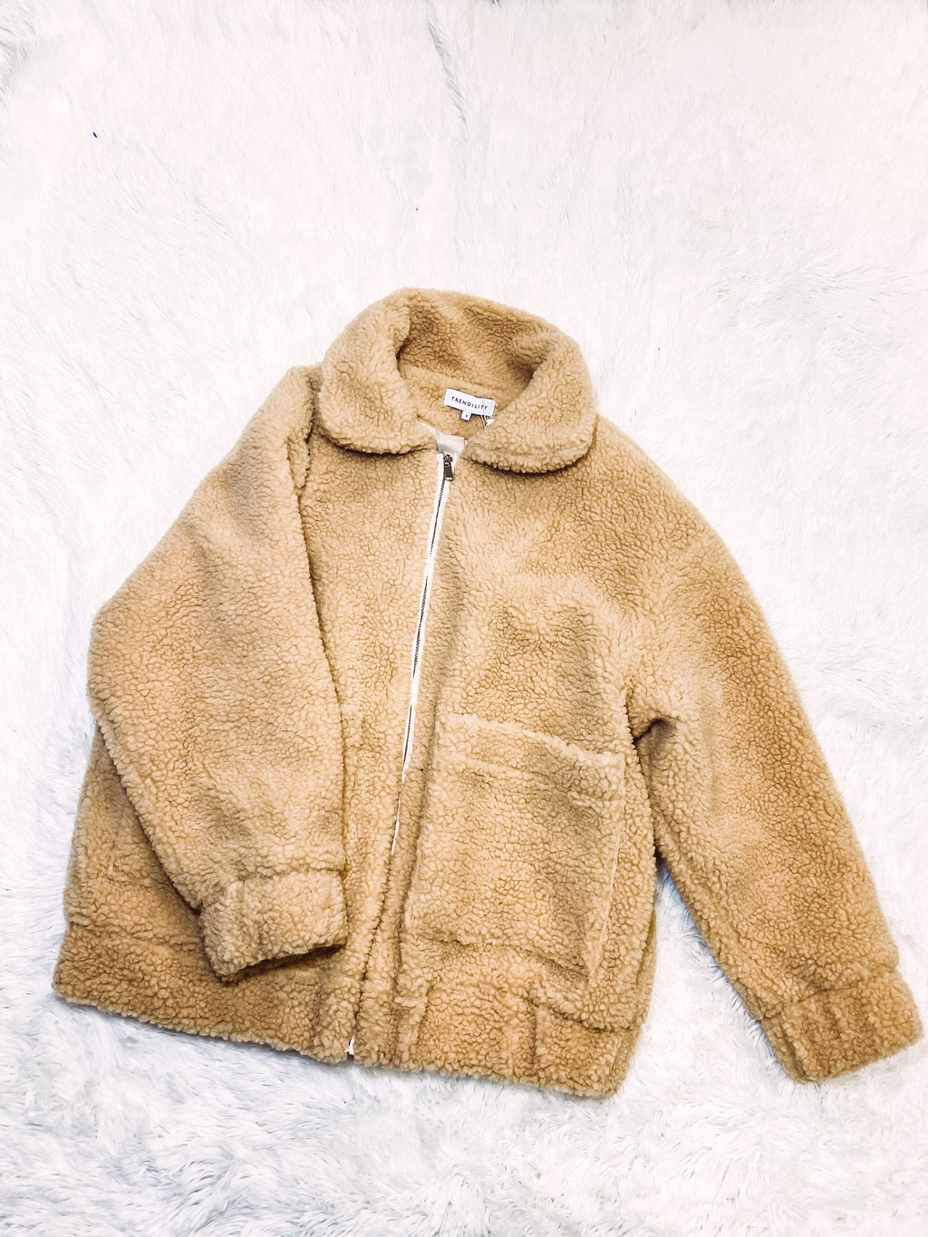 Teddy Bear Jacket - Taupe