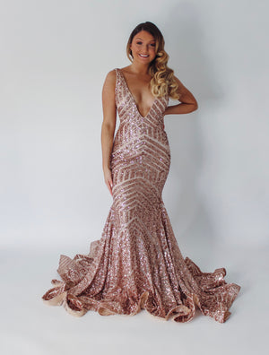 Jovani Sample Gown - Rose Gold