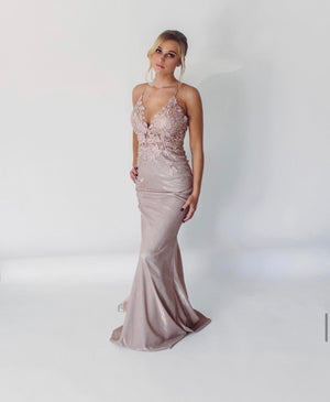 JVN Sample Gown - Nude