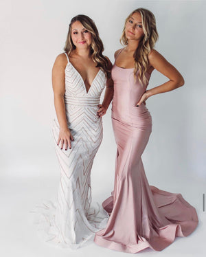 Jovani Sample Gown - Off White/Gold