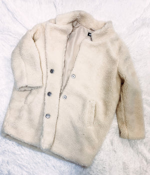 Teddy Coat - Off White