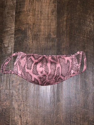 Face Mask - Shiny Pink Textile