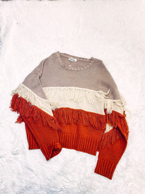 Fringe Sweater - Multi