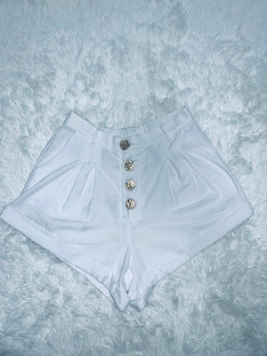 Gold Button Shorts