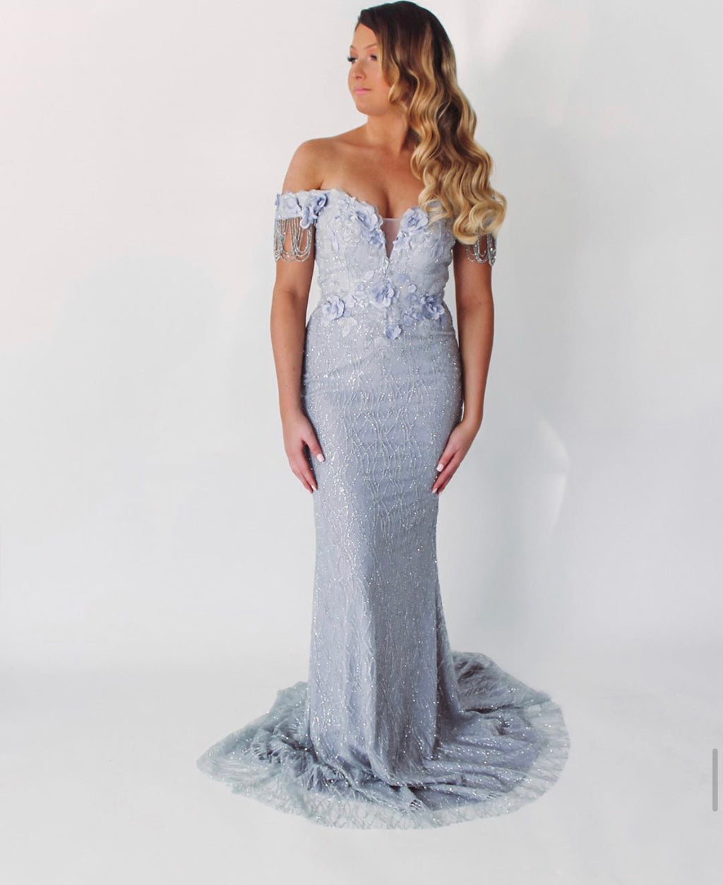 Portia Sample Gown - Ice
