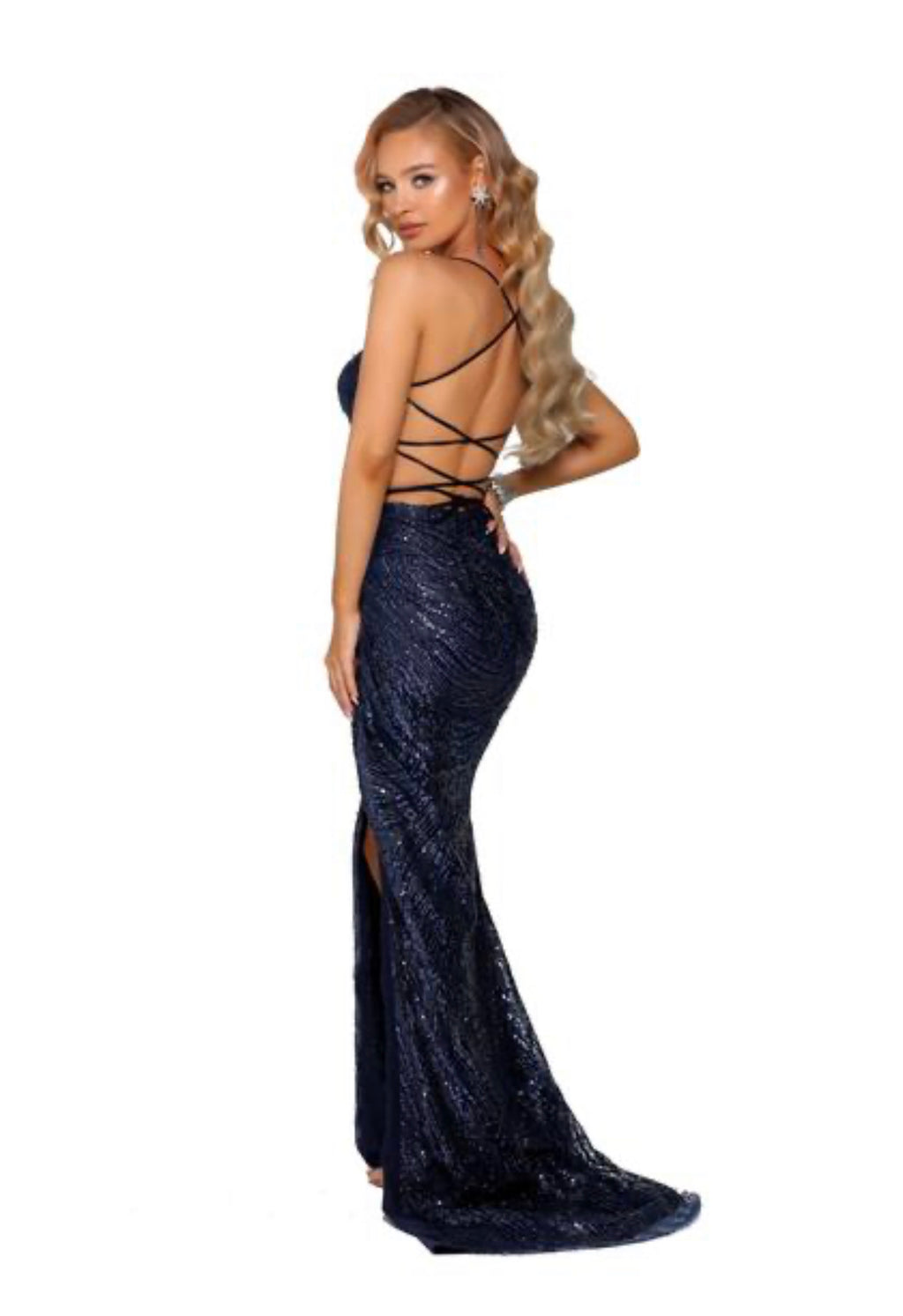 Portia Sample Gown - Navy