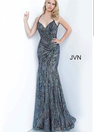 JVN Sample Gown - Black/Multi