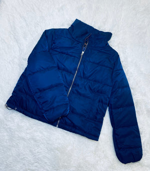 Quilted Puff Jacket - Blue