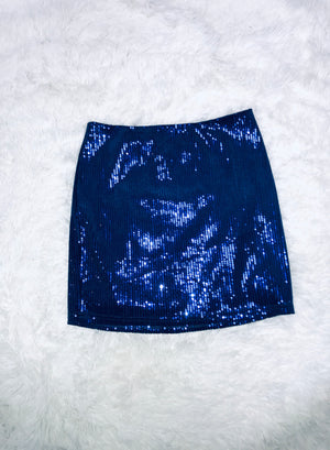 Sequin Mini Skirt - Violet