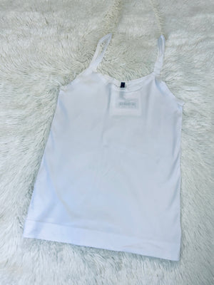 Scooped Neck Cami - White