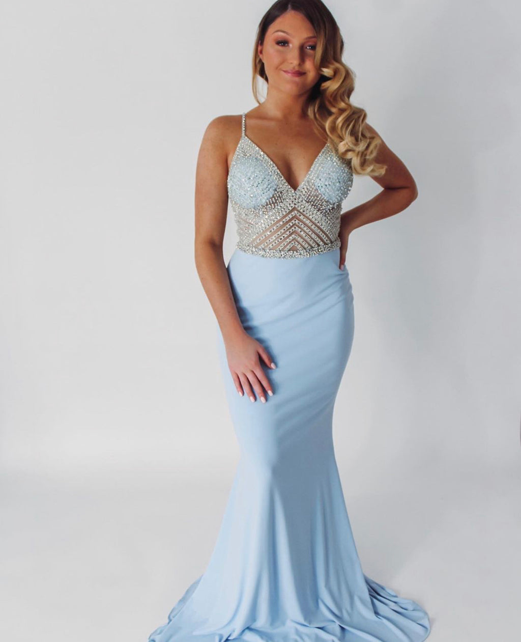 Jovani Sample Gown - Baby Blue
