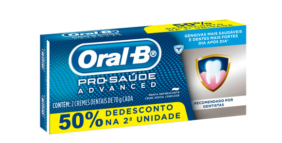 Creme Dental ORAL-B Pro-Saúde Advanced 70g - 2 unidades