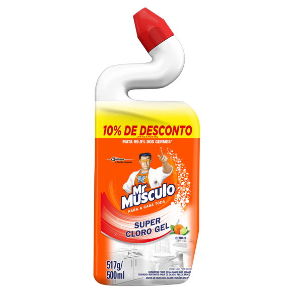Desinfetante MR. MÚSCULO Super Cloro Gel Citrus 500ml