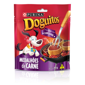 Snacks DOGUITOS Medalhoes de Carne 65g