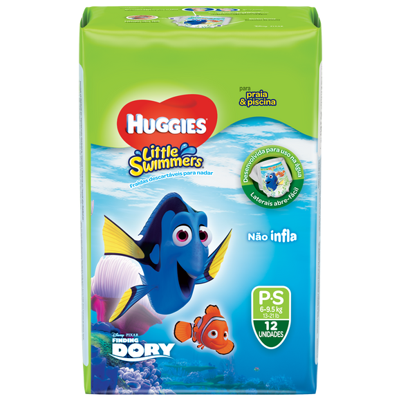 Fralda Infantil HUGGIES Little Swimmers P - 12 Fraldas