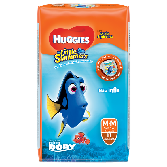 Fralda Infantil HUGGIES Little Swimmers M - 11 Fraldas