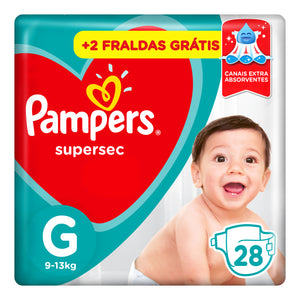 Fralda Infantil PAMPERS Supersec G 28 Unidades