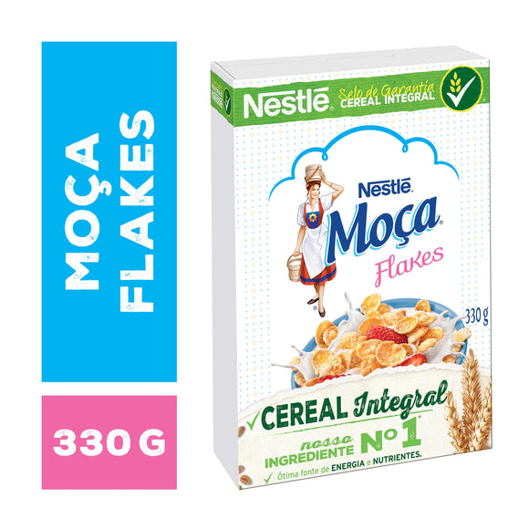 Cereal MOÇA flakes integral 330g