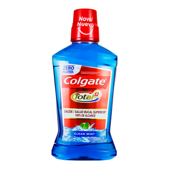 Antisséptico Bucal COLGATE Total 12 Clean Mint 500ml